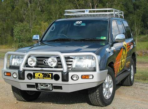 Big Tube Bar® Winch Compatible with Bumper Lights (code: BT86SY)