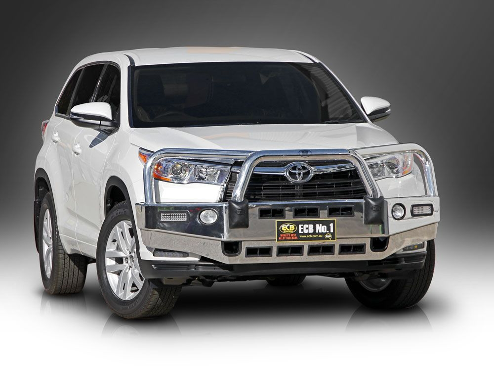 TOYOTA KLUGER  Big Tube Bar® with Bumper Lights (03/14 to 10/16)